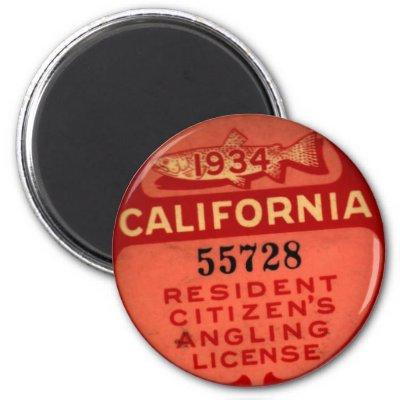 Pair california fish game boat license platesebay for Oklahoma lifetime fishing license