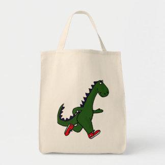 CA- Funny Jogging Dinosaur Tote Bag