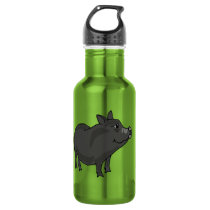 CA- Funny Pot Bellied Pig Water Bottle
