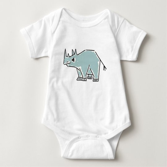CA- Funny Rhino Baby Outfit Baby Bodysuit