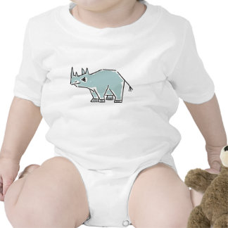 CA- Funny Rhino Baby Outfit Creeper
