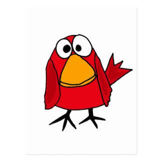 CA- Funny Sad Cardinal Bird Cartoon Postcard