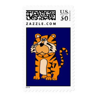 CA- Funny Tiger Cartoon Postage Stamp