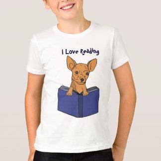 CA- I love Reading Chihuahua Cartoon Shirt
