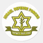 CA - Insignias de las fuerzas de defensa de Israel Etiquetas Redondas
