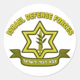 CA - Insignias de las fuerzas de defensa de Israel Pegatina Redonda