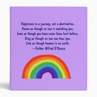 CA- Inspirational Rainbow Binder with Happiness is