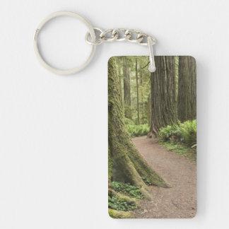 CA, Jedediah Smith State Park, Simpson-Reed Acrylic Keychain