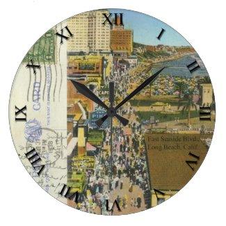 CA - Long Beach, California Post Card Clock - 1938