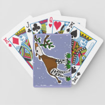 CA- Okapi Art Cartoon Bicycle Playing Cards
