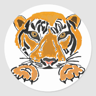 CA pegatinas de los tigres Pegatina Redonda