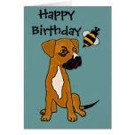 CA perrito del boxeador y dibujo animado lindos de Tarjeta