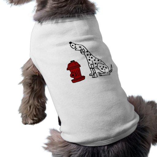 CA perro y boca de incendios dálmatas impresionant Playera Sin Mangas Para Perro