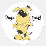 ¡CA perros, roca! Pegatinas Pegatina Redonda