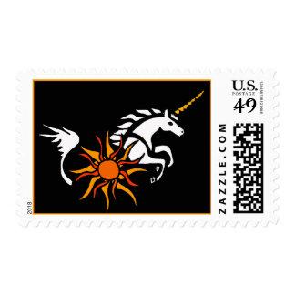 CA salto de sellos del arte del unicornio