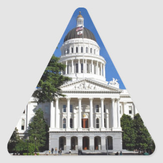 CA state capitol building - Sacramento Triangle Sticker