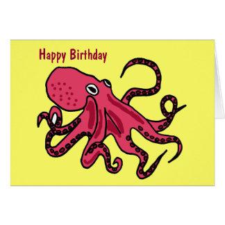 CA tarjeta de cumpleaños del dibujo animado del
