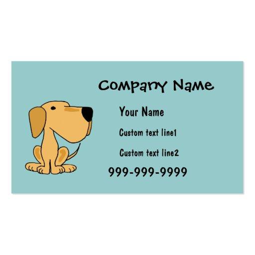 CA tarjetas de visita de Labrador del amarillo de