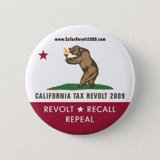 CA Tax Revolt 2009 Flag Button