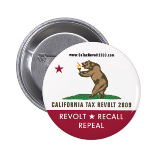 CA Tax Revolt 2009 Flag Button