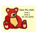 CA- Teddy Bear save the date postcard