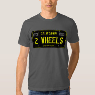 CA Vintage Plate - 2 WHEELS (template) Shirts