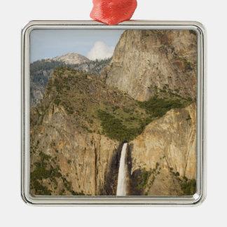 CA, Yosemite NP, Bridalveil Falls Metal Ornament