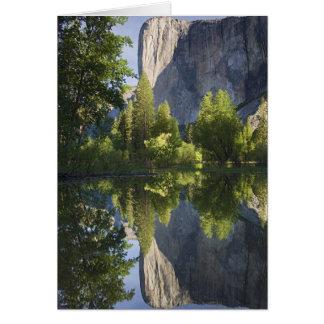 CA, Yosemite NP, El Capitan reflected in Merced Card