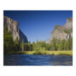 CA, Yosemite NP, Valley view with El Capitan, Poster