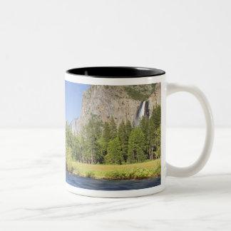 CA, Yosemite NP, Valley view with El Capitan, Two-Tone Coffee Mug