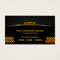 Cab Company Taxi Driver Business Card at Zazzle