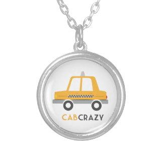 Cab Crazy Round Pendant Necklace