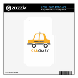 Cab Crazy Decal For iPod Touch 4G