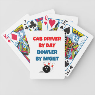 Cab Driver by Day Bowler by Night Bicycle Playing Cards