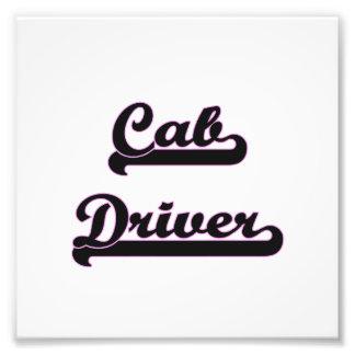 Cab Driver Classic Job Design Photo Print