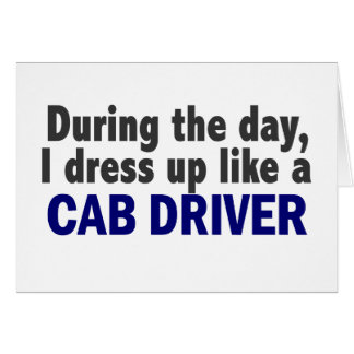 Cab Driver During The Day Cards