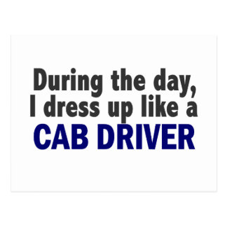 Cab Driver During The Day Postcards