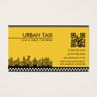 Cab Driver Taxi Driver Modern QR Code Business Card