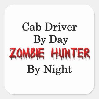 Cab Driver/Zombie Hunter Square Sticker