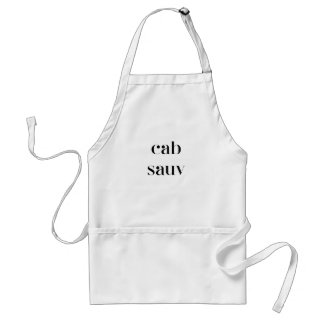 Cab Sauv - Cabernet Sauvignon for the Wine Lover Adult Apron