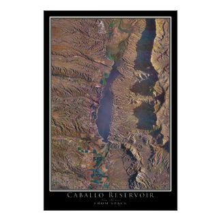 Cabal Lake New Mexico From Space Satellite Art Poster