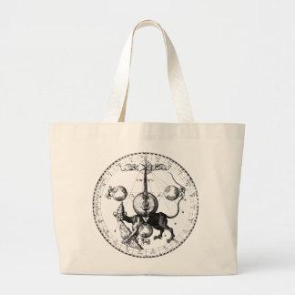 Cabala Emblem Mandala Large Tote Bag