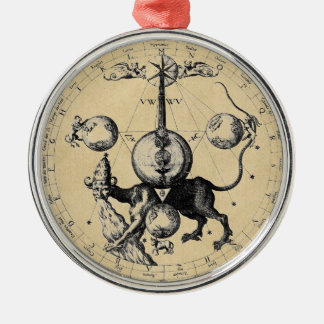 Cabala Emblem Mandala Metal Ornament