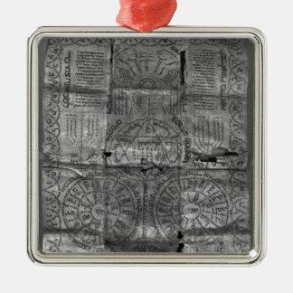Cabalistic amulet metal ornament