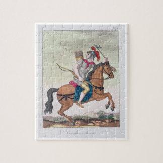 """Caballería Archer, de """"L'Antica Roma"""", 1825 (color Rompecabezas"""