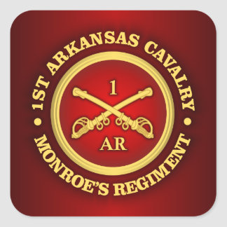 Caballería de CSC -1st Arkansas Pegatina Cuadrada