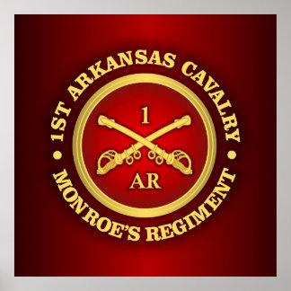 Caballería de CSC -1st Arkansas Póster