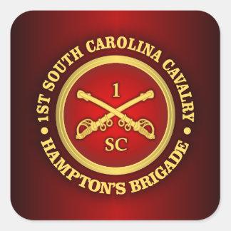 Caballería de CSC -1st Carolina del Sur Pegatinas Cuadradas