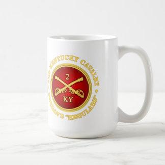 Caballería de CSC -2nd Kentucky (latón-roja) Tazas