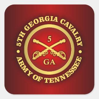 Caballería de CSC -5th Georgia Pegatina Cuadrada